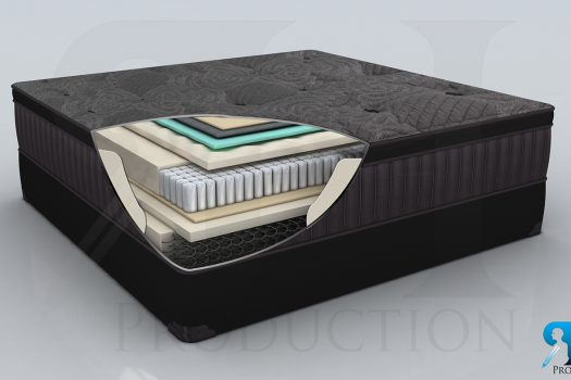 3D Mattress_2 Modeling & Realistic Rendering